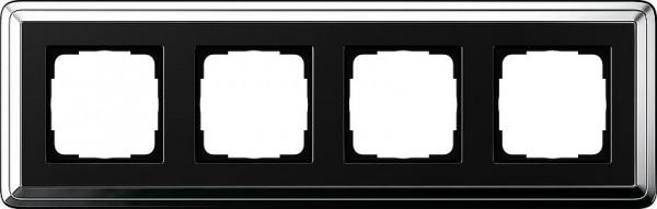 GIRA 0214642 Rahmen 4-Fach ClassicX Chrom-Schwarz