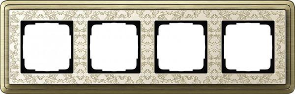 GIRA 0214663 Rahmen 4-Fach ClassicX Art Bronze-Cremeweiß