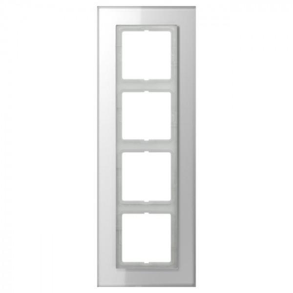JUNG LSP984GLWW Glasrahmen 4-Fach LS-Serie Alpinweiß