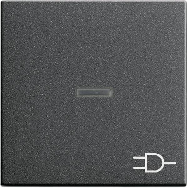 """GIRA 020928 Kontroll-Wippe mit Symbol """"Steckdose"""" Anthrazit"""