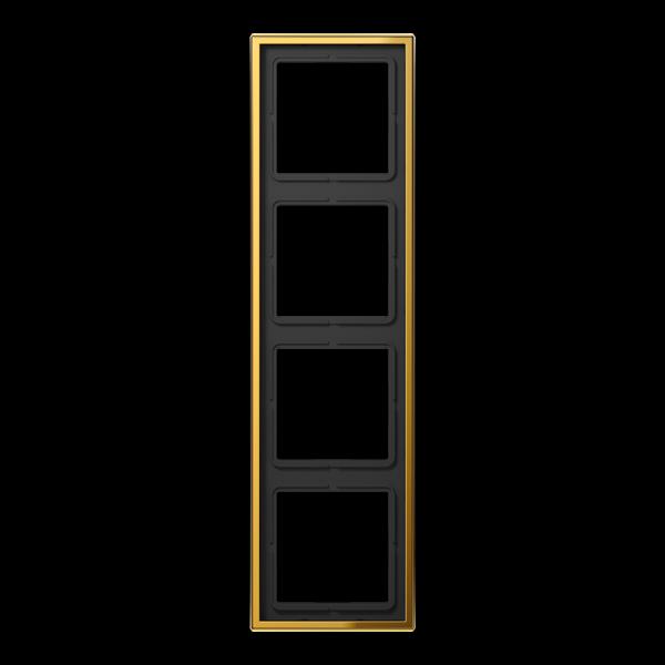 JUNG GO2984 Rahmen 4-Fach LS-Serie Goldfarben