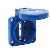 PCE 105-0B Schutzkontatktsteckdose 3-Polig 16A Blau S-Nova 50x50