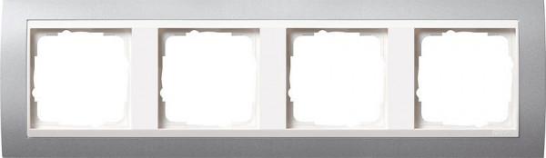 GIRA 0214326 Rahmen 4-Fach Event Farbe-Alu /Reinweiß-Glänzend