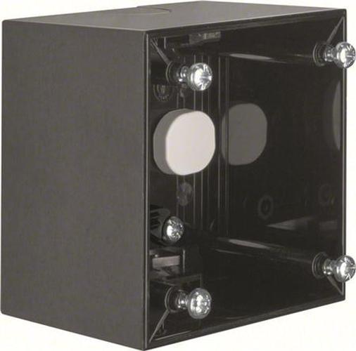 Berker 911512520 Aufbau-Gehäuse hoch AP, Integro Flow, Schwarz Glänzend