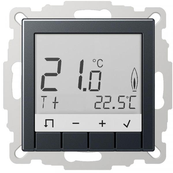 JUNG TRDA231ANM Raumtemperaturregler Standard mit Display Anthrazit Matt
