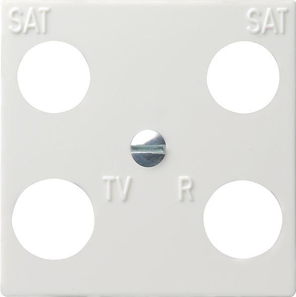 GIRA 025803 Abdeckung TV 4-Loch Reinweiß-Glänzend