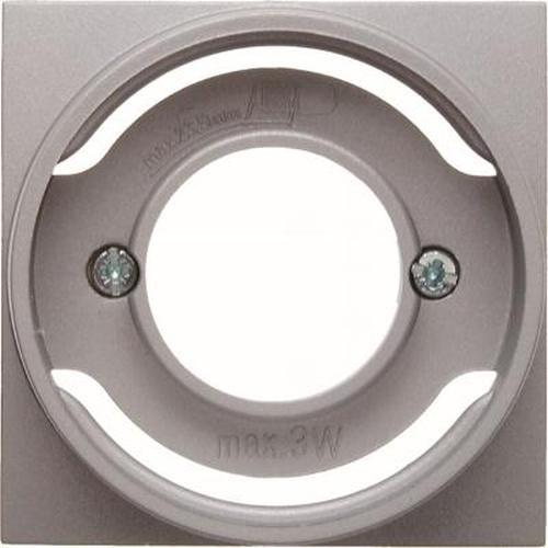 Berker 11981404 Zentralstück für Lichtsignal E14 B.7 Alu, Matt
