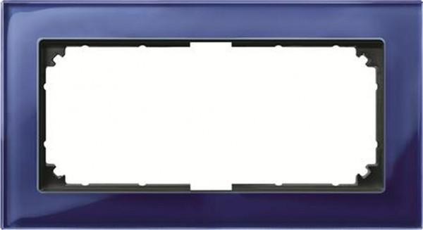 Merten 487878 Rahmen 2-Fach ohne Mittelsteg M-Plan Echtglas