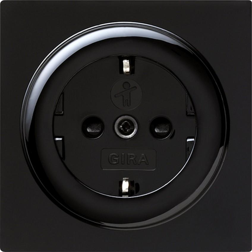 schwarz steckdosen s color gira schalter steckdosen steckdosen24. Black Bedroom Furniture Sets. Home Design Ideas