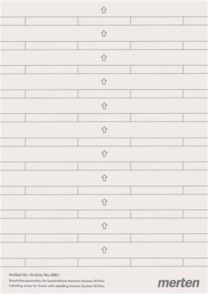 Merten 486100 Rahmen Beschriftungsstreifen für beschriftbare M-Plan Polarweiß/silber