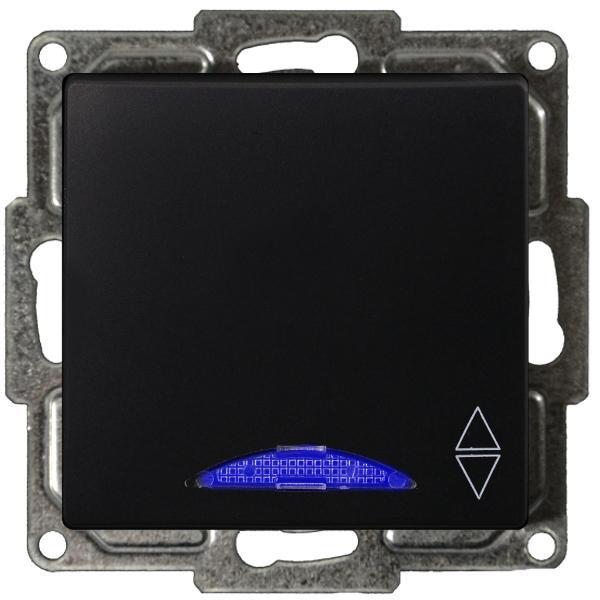 Visage Wechselschalter mit LED Schwarz