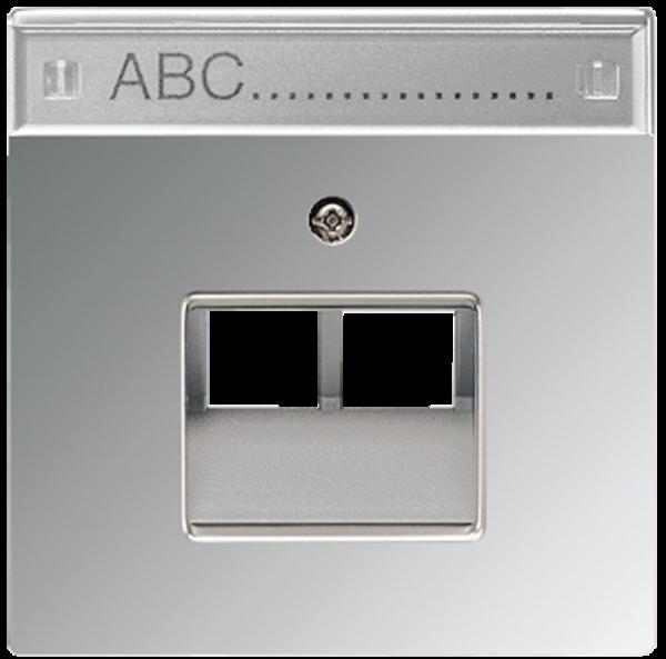 JUNG GCR2969-2NAUA Abdeckung UAE/IAE 2-Fach mit Schriftfeld Glanz-Chrom