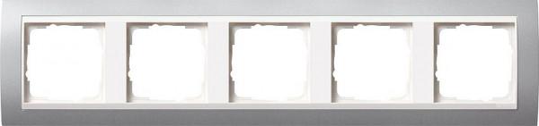 GIRA 0215326 Rahmen 5-Fach Event Farbe-Alu /Reinweiß-Glänzend
