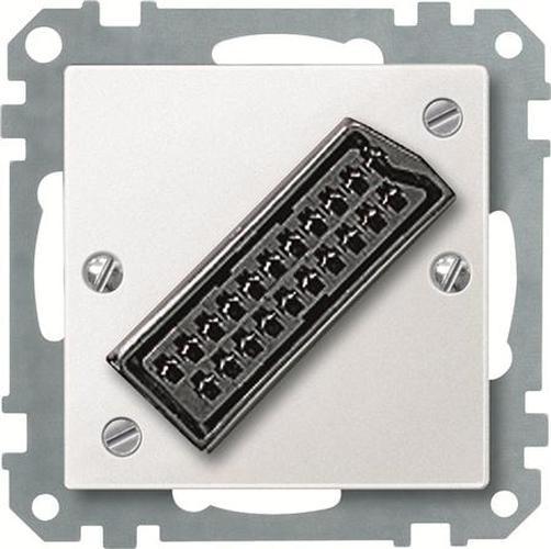 Merten 469219 Zentralplatte für EURO-AV-Steckbuchse Polarweiß
