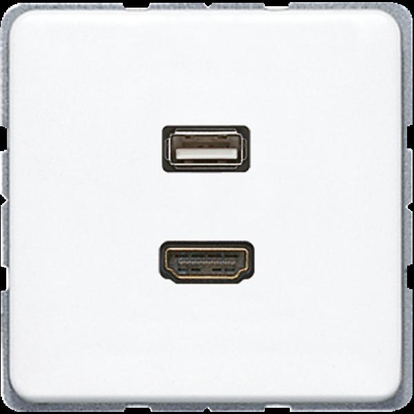 JUNG MACD1163WW HDMI-USB2.0 Alpinweiß