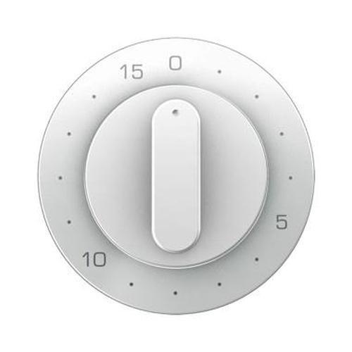 Berker 16322089 Z.-Stk. mit Regulierknopf für mech. Zeitschaltuhr R.1/R.3 Polarweiß, Glänzend