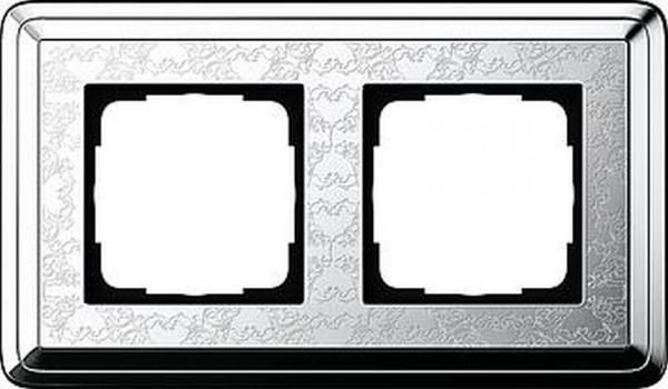 GIRA 0212681 Rahmen 2-Fach ClassicX Art Chrom