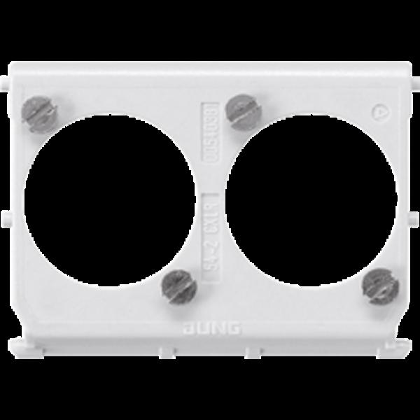 JUNG 54-2CXLR Montage-Einsatz Aufnahme von Datensteckern