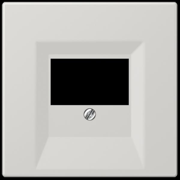 JUNG LS969TLG Abdeckung TAE/Lautsprecherdose Lichtgrau