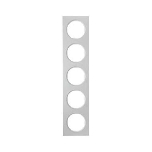 Berker 10152274 Rahmen 5Fach R.3 Alu/Polarweiß