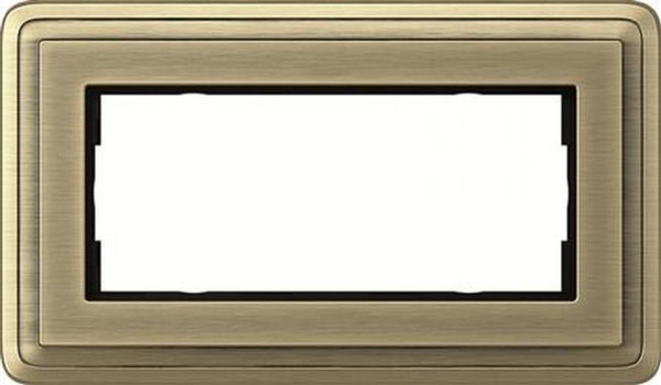 GIRA 1002621 Rahmen 2-Fach ohne Mittelsteg ClassicX Bronze