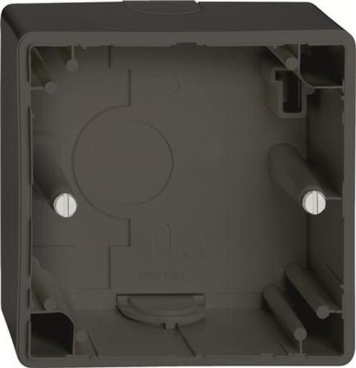 Merten 512169 Aufputz-Gehäuse 1-Fach für M-Smart/Artec Schwarzgrau