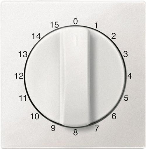 """Merten 539019 Abdeckung Zeitschaltuhr """"15 Min"""" Polarweiß"""