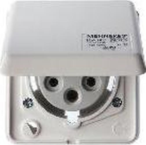 Berker 578501 CEE Steckdose 5-polig Eb 16 A mit Klappdeckel Verbindungssysteme Polarweiß