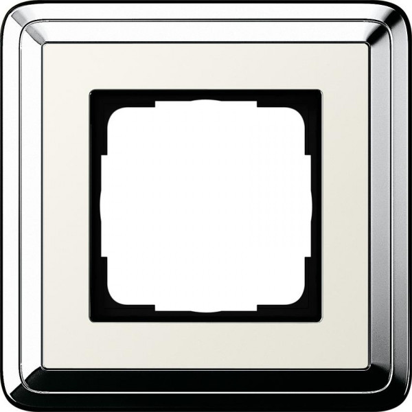 GIRA 0211643 Rahmen 1-Fach ClassicX Chrom-Cremeweiß