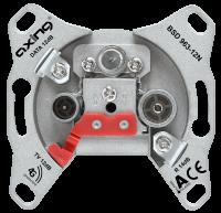 AXING BSD963-12N Multimedia-Durchgangsdose