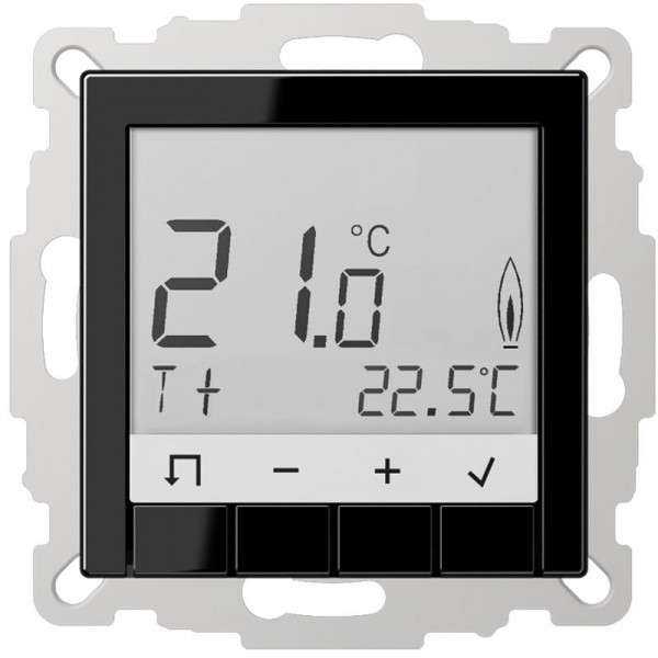 JUNG TRDA231SW Raumtemperaturregler Standard mit Display Schwarz