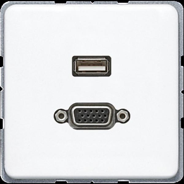 JUNG MACD1183WW USB2.0-VGA Alpinweiß