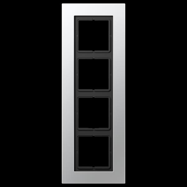 JUNG LSP984AL Rahmen 4-Fach LS-Serie Aluminium