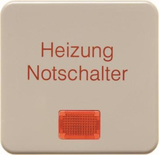 Berker 1568 Wippe 'Heizung' mit roter Linse wg Up IP44 Weiß, Glänzend