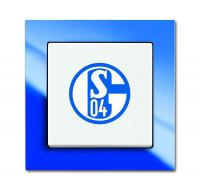 """Busch-Jaeger 2000/6UJ/02 Aus/Wechselschalter Fanschalter """"FC Schalke 04"""""""