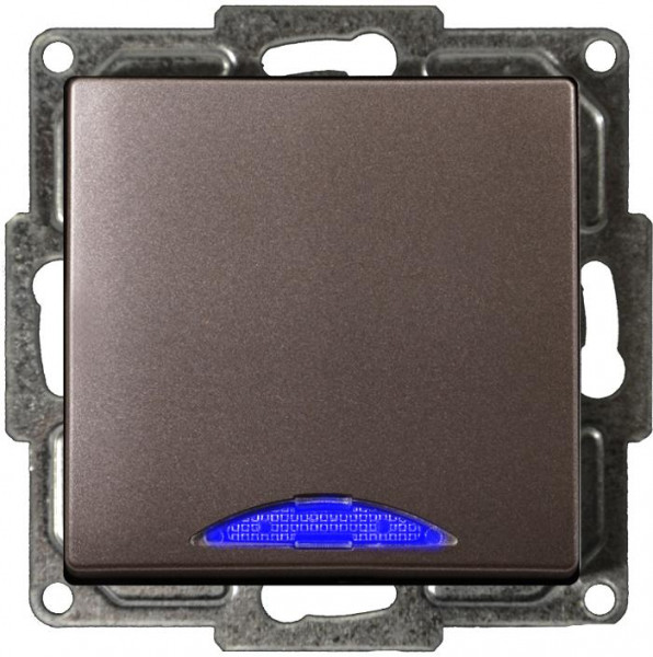 Visage Ein/Ausschalter mit LED Anthrazit