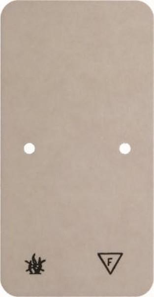 Berker 105440 Selbstverlöschende Bodenplatte Aufputz Weiß
