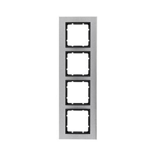 Berker 10143606 Rahmen 4Fach B.7 Edelstahl/Anthrazit