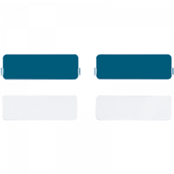 JUNG CD95NA Transparente Abdeckung für Schriftfeld 9 x 27 mm