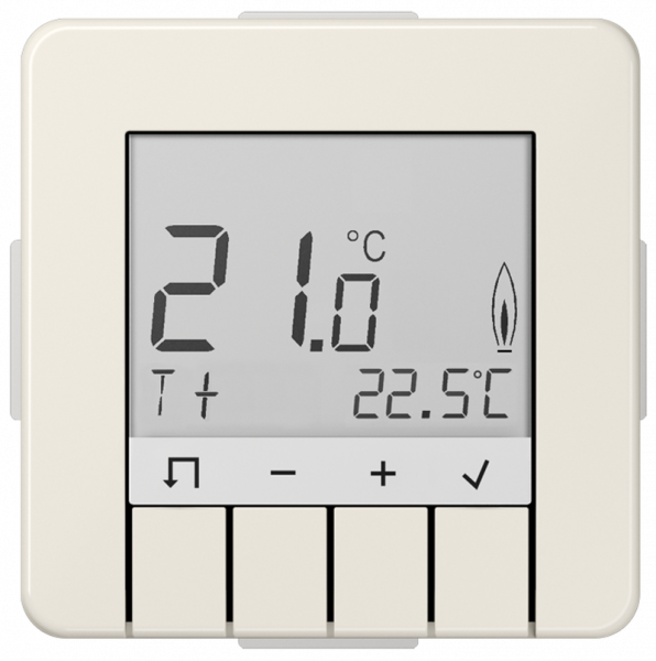 JUNG TRDCD231 Raumtemperaturregler Standard mit Display Cremeweiß