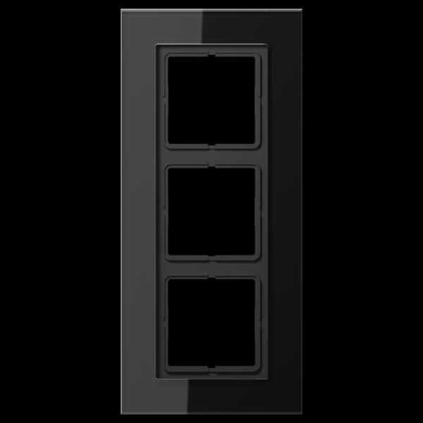JUNG LSP983GLSW Glasrahmen 3-Fach LS-Serie Schwarz