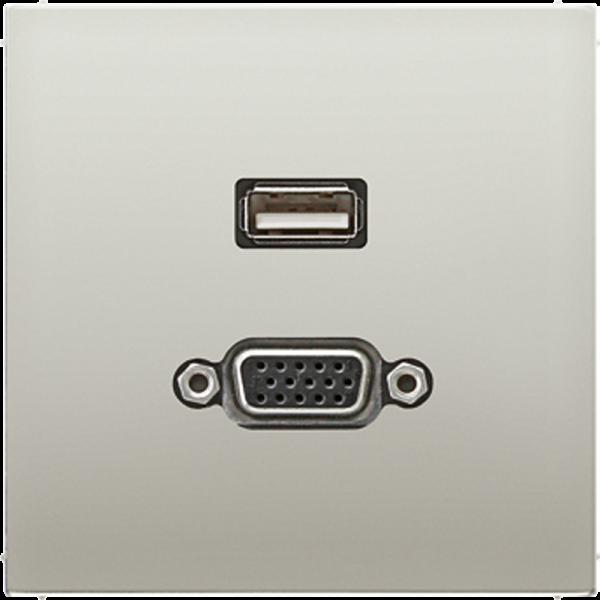 JUNG MAES1183 USB2.0-VGA Edelstahl