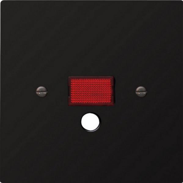 GIRA 063847 Abdeckung mit großem Kontrollfenster für Zugschalter Schwarz