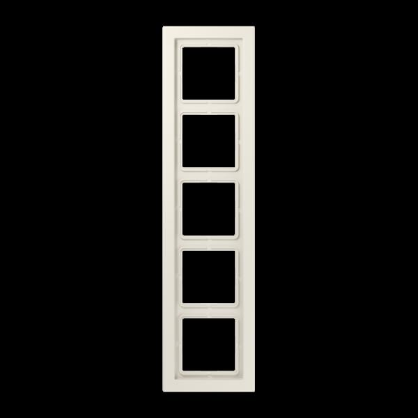 JUNG LSD985W Rahmen 5-Fach LS-Serie Cremeweiß