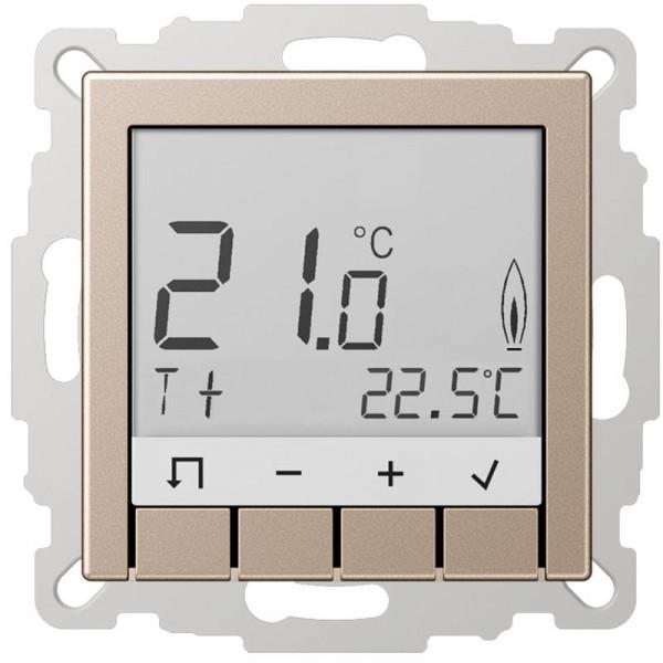 JUNG TRDA231CH Raumtemperaturregler Standard mit Display Champagner