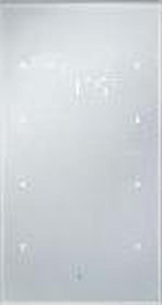 Berker 75643034 Glas-Sensor 3Fach mit Temperaturregler TS Sensor, Alu