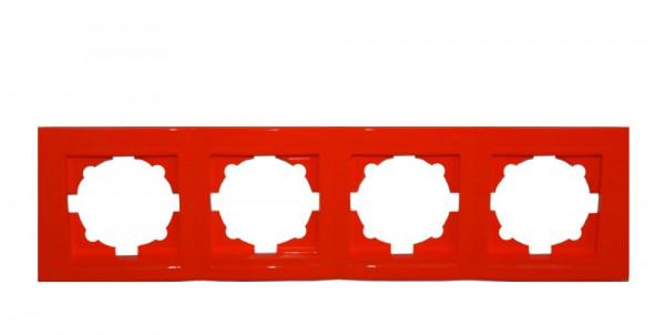 Moderna 4-Fach Abdeckrahmen Rot