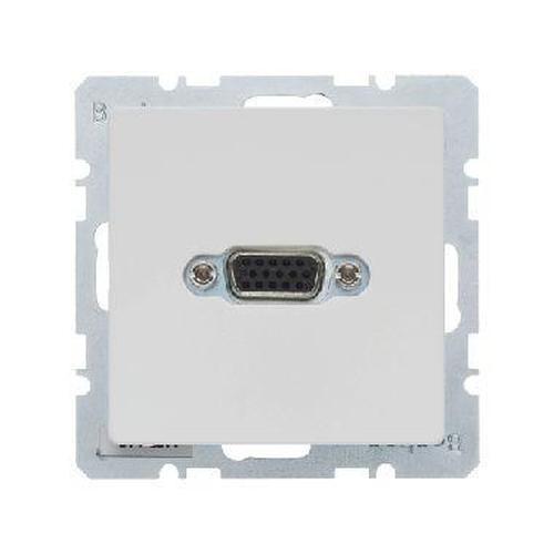 Berker 3315416089 VGA Steckdose mit Schraub-Liftklemmen Q.1/Q.3 Polarweiß, Samt