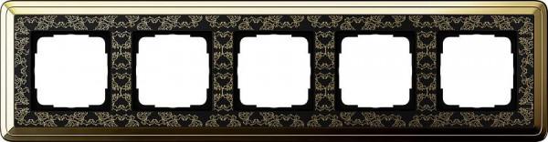 GIRA 0215672 Rahmen 5-Fach ClassiX Art Messing-Schwarz