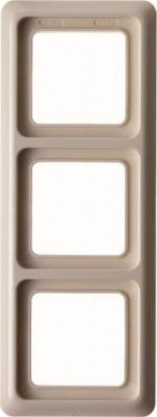 Berker 1330 Rahmen 3Fach mit Dichtung wg Up IP44 Weiß, Glänzend
